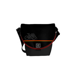 Bike with German-inspired Flag lines Messenger Bag