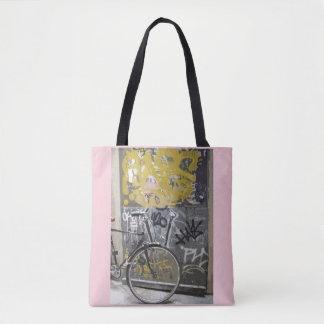 Bike with Graffiti, Madrid Tote Bag