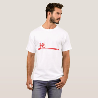 Bike with Swiss-Flag Inspired lines Men's Tee