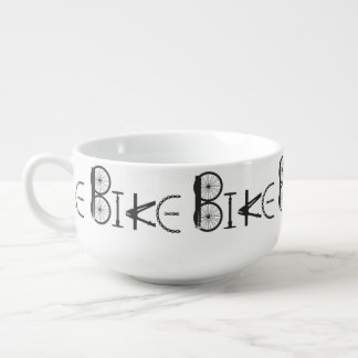 Bike Word made from Bicycle parts for Bike Sport Soup Mug