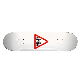 Bike Yield Sign Skate Board Decks
