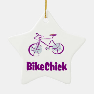 BikeChick Logo Ceramic Ornament