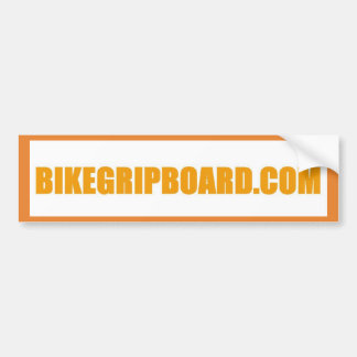 BIKEGRIPBOARD.COM ORANGE BUMPER STICKER