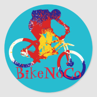 BikeNoCo Colorado flag sticker
