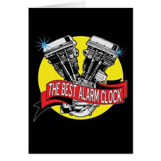 Biker Alarm Clock Cards