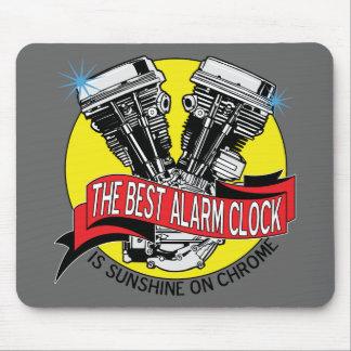 Biker Alarm Clock Mouse Mats