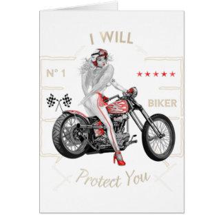 Biker Angel T-Shirt Card
