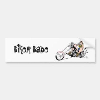 Biker Babe Bumper Sticker