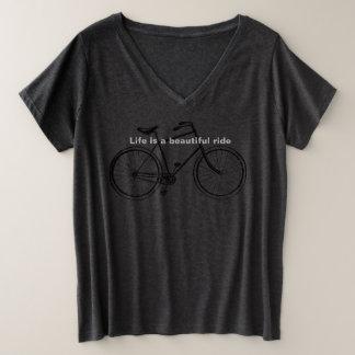 Biker Babe Plus Size V-Neck T-Shirt