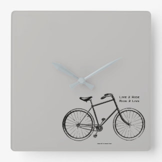 Biker Babe Square Wall Clock