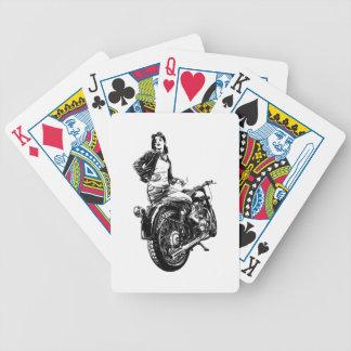 Biker Bicycle Playing Cards