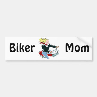 Biker Blond Bumper Sticker