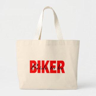 Biker Bride To Be Jumbo Tote Bag