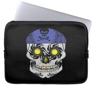 Biker Candy Skull Laptop Sleeve