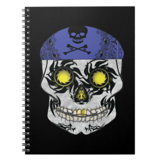 Biker Candy Skull Notebook