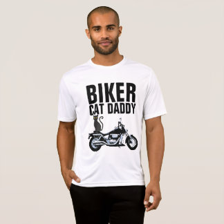 BIKER CAT DADDY DAD T-shirts, Motorcycle T-Shirt