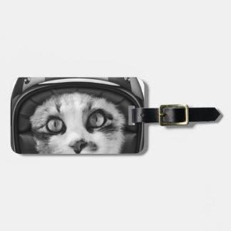 Biker cat T-Shirt Luggage Tag