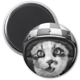 Biker cat T-Shirt Magnet