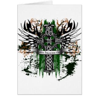 Biker Celtic Cross T-Shirt Card