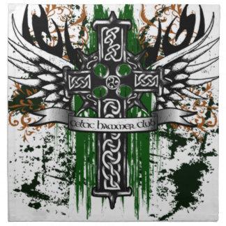 Biker Celtic Cross T-Shirt Napkin