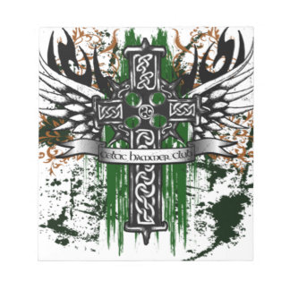 Biker Celtic Cross T-Shirt Notepad