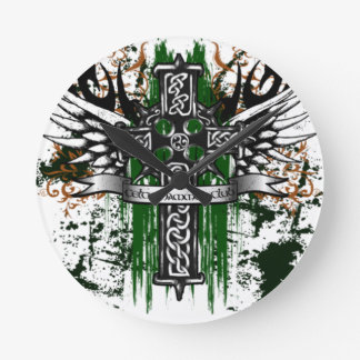 Biker Celtic Cross T-Shirt Round Clock