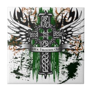 Biker Celtic Cross T-Shirt Tile