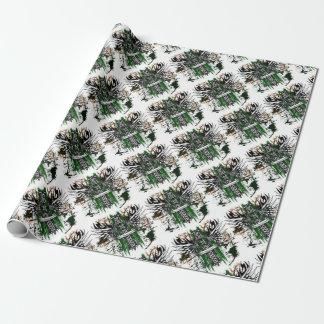 Biker Celtic Cross T-Shirt Wrapping Paper