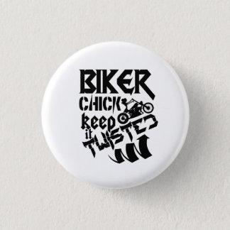 Biker Chick Button
