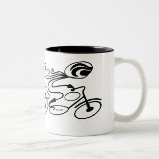 """BIKER CHICK"" by Mary Ford Two-Tone Coffee Mug"