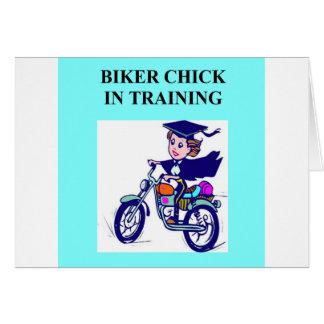 biker chick daughter joke card