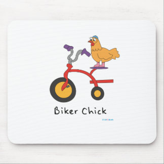Biker Chick Mousepad