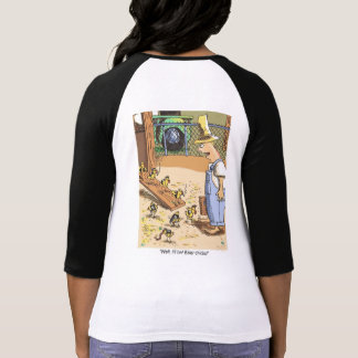 Biker Chicks Original Cartoon women raglan shirt b