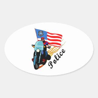 Biker Cops Oval Sticker