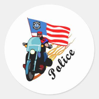 Biker Cops Classic Round Sticker