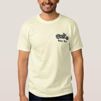Biker Dad Embroidered T-Shirt