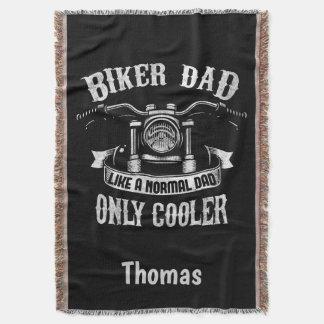Biker Dad Like A Normal Dad Only Cooler Throw Blanket