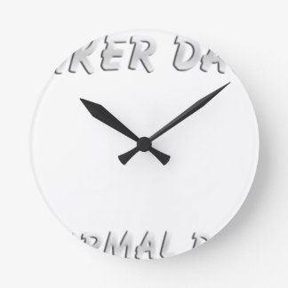 Biker DAD T-Shirt Round Clock