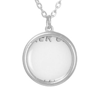 Biker DAD T-Shirt Silver Plated Necklace