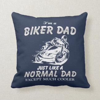 Biker DAD Throw Pillow