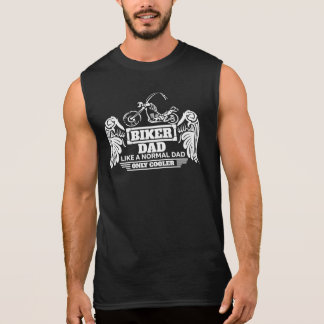 Biker Dad Wings Like A Normal Dad Only Cooler Sleeveless Shirt