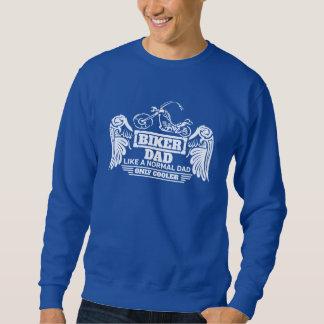 Biker Dad Wings Like A Normal Dad Only Cooler Sweatshirt
