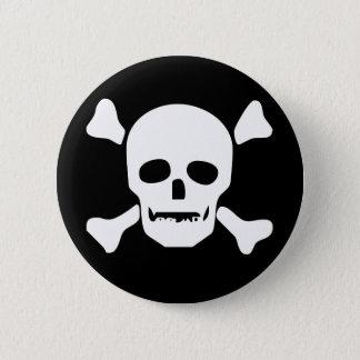 Biker Death Skull 2 Inch Round Button