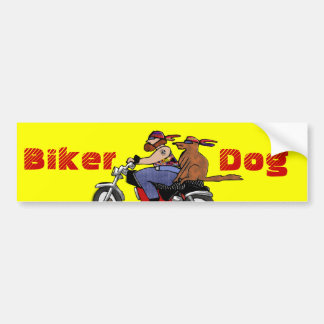 Biker Dog Bumper Sticker