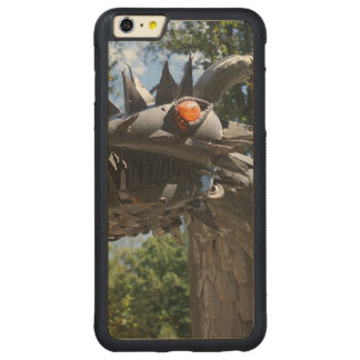 Biker Dragon Carved® Maple iPhone 6 Plus Bumper Case