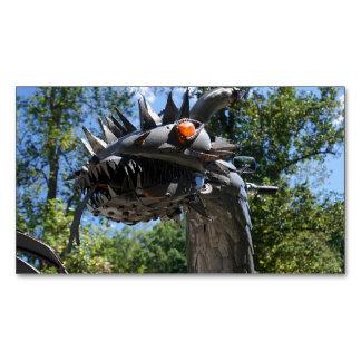 Biker Dragon Magnetic Business Card