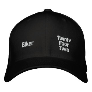 Biker Embroidered Hat