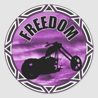 Biker Freedom Classic Round Sticker