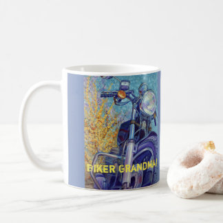 Biker Grandma Customizable Coffee Mug