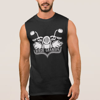 Biker Grandpa Motorcycle Rider Sleeveless Shirt